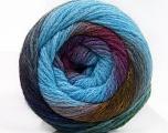Fiber Content 90% Acrylic, 10% Polyamide, Purple Shades, Brand ICE, Green Shades, Blue, Yarn Thickness 4 Medium  Worsted, Afghan, Aran, fnt2-58119