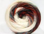 Fiber Content 90% Acrylic, 10% Polyamide, Red, Brand ICE, Green, Cream, Blue, Yarn Thickness 4 Medium  Worsted, Afghan, Aran, fnt2-58126