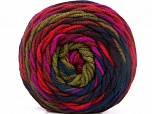 Fiber Content 100% Acrylic, Red, Purple, Brand ICE, Green, Fuchsia, Burgundy, Yarn Thickness 4 Medium  Worsted, Afghan, Aran, fnt2-58137