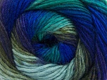 Fiber Content 70% Acrylic, 30% Wool, Turquoise, Purple, Khaki, Brand ICE, Blue, Yarn Thickness 3 Light  DK, Light, Worsted, fnt2-58142
