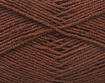 Fiber Content 55% Virgin Wool, 5% Cashmere, 40% Acrylic, Brand Ice Yarns, Brown, Yarn Thickness 2 Fine  Sport, Baby, fnt2-21115