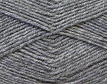Fiber Content 55% Virgin Wool, 5% Cashmere, 40% Acrylic, Brand ICE, Grey, Yarn Thickness 2 Fine  Sport, Baby, fnt2-21117