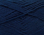 Fiber Content 55% Virgin Wool, 5% Cashmere, 40% Acrylic, Navy, Brand ICE, Yarn Thickness 2 Fine  Sport, Baby, fnt2-21123