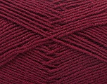 Fiber Content 55% Virgin Wool, 5% Cashmere, 40% Acrylic, Brand ICE, Burgundy, Yarn Thickness 2 Fine  Sport, Baby, fnt2-21130