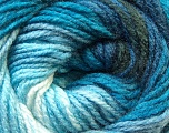 Fiber Content 100% Acrylic, Brand Ice Yarns, Blue Shades, Black, Yarn Thickness 3 Light  DK, Light, Worsted, fnt2-22016
