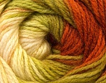Fiber Content 100% Acrylic, Brand Ice Yarns, Green Shades, Copper, Yarn Thickness 3 Light  DK, Light, Worsted, fnt2-22029
