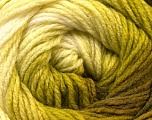 Fiber Content 100% Acrylic, White, Brand Ice Yarns, Green Shades, Yarn Thickness 3 Light  DK, Light, Worsted, fnt2-22030
