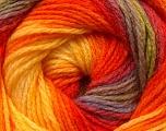 Fiber Content 100% Acrylic, Yellow, Orange, Brand Ice Yarns, Green, Camel, Yarn Thickness 3 Light  DK, Light, Worsted, fnt2-22036