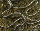 Fiber Content 90% Acrylic, 10% Lurex, Silver, Brand Ice Yarns, Dark Green, Yarn Thickness 6 SuperBulky  Bulky, Roving, fnt2-22098
