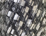 Trellis 20 stitches and 28 rows for 10 cm x 10 cm (4&amp x 4&amp) Fiber Content 100% Polyester, White, Brand ICE, Black, Yarn Thickness 5 Bulky  Chunky, Craft, Rug, fnt2-22302
