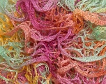 A beautiful new scarf yarn. One ball is enough to make a beautiful scarf. Knitting instructions are included! Fiber Content 100% Acrylic, Yellow, Rose Pink, Mint Green, Light Salmon, Brand Ice Yarns, Yarn Thickness 6 SuperBulky  Bulky, Roving, fnt2-22798