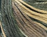 Fiber Content 40% Acrylic, 35% Wool, 25% Alpaca, Brand ICE, Grey, Cream, Camel, Yarn Thickness 5 Bulky  Chunky, Craft, Rug, fnt2-25415