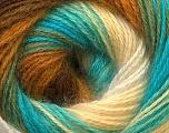 Fiber Content 55% Acrylic, 45% Angora, Turquoise, Brand Ice Yarns, Green, Cream, Brown, Yarn Thickness 2 Fine  Sport, Baby, fnt2-26941