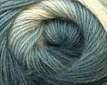 Fiber Content 55% Acrylic, 45% Angora, White, Brand Ice Yarns, Grey Shades, Yarn Thickness 2 Fine  Sport, Baby, fnt2-27132