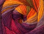 Fiber Content 100% Acrylic, Yellow, Purple, Orange, Lilac, Brand Ice Yarns, Yarn Thickness 3 Light  DK, Light, Worsted, fnt2-33054