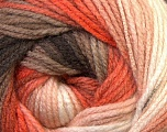 Fiber Content 100% Acrylic, White, Orange, Brand Ice Yarns, Camel, Brown, Yarn Thickness 3 Light  DK, Light, Worsted, fnt2-33055