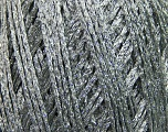 Fiber Content 8% Metallic Lurex, 50% Cotton, 42% Viscose, Silver, Brand ICE, Grey, fnt2-37569