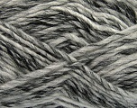 Fiber Content 75% Acrylic, 25% Wool, White, Brand ICE, Grey Shades, Yarn Thickness 5 Bulky  Chunky, Craft, Rug, fnt2-40812