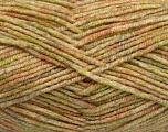 Fiber Content 70% Acrylic, 30% Wool, Salmon, Brand ICE, Green, Cream, Camel, Yarn Thickness 4 Medium  Worsted, Afghan, Aran, fnt2-40891