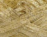 Fiber Content 75% Polyester, 25% Metallic Lurex, White, Brand ICE, Gold, fnt2-42224