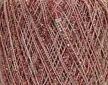 Fiber Content 75% Polyester, 25% Metallic Lurex, Pink, Brand ICE, fnt2-42229