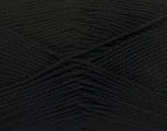 Fiber Content 50% Bamboo, 50% Cotton, Brand ICE, Black, Yarn Thickness 2 Fine  Sport, Baby, fnt2-42281