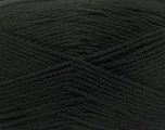Fiber Content 100% Micro Acrylic, Brand ICE, Black, Yarn Thickness 3 Light  DK, Light, Worsted, fnt2-42284