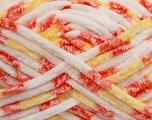 Fiber Content 100% Micro Fiber, Yellow, White, Orange, Brand Ice Yarns, Yarn Thickness 6 SuperBulky  Bulky, Roving, fnt2-42494