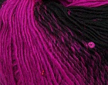 Fiber Content 65% Dralon Acrylic, 4% Paillette, 31% Wool, Brand ICE, Fuchsia, Black, Yarn Thickness 3 Light  DK, Light, Worsted, fnt2-42639