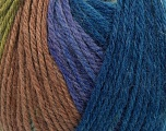 Fiber Content 100% Wool, Navy, Lilac, Brand ICE, Green, Camel, Blue, Yarn Thickness 4 Medium  Worsted, Afghan, Aran, fnt2-42676