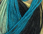 Fiber Content 100% Wool, Brand ICE, Cream, Camel, Blue Shades, Black, Yarn Thickness 4 Medium  Worsted, Afghan, Aran, fnt2-42682