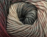 Fiber Content 100% Wool, Brand Ice Yarns, Grey, Cream, Burgundy, Yarn Thickness 4 Medium  Worsted, Afghan, Aran, fnt2-43061