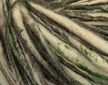 Fiber Content 100% Wool, Brand Ice Yarns, Grey, Green, Cream, Yarn Thickness 4 Medium  Worsted, Afghan, Aran, fnt2-43558