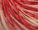 Fiber Content 100% Wool, Red, Pink, Brand Ice Yarns, Cream, Yarn Thickness 4 Medium  Worsted, Afghan, Aran, fnt2-43560