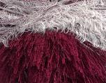 Fiber Content 100% Polyester, White, Brand Ice Yarns, Burgundy, fnt2-43566