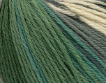 Fiber Content 100% Merino Wool, White, Brand Ice Yarns, Grey Shades, Green Shades, Yarn Thickness 4 Medium  Worsted, Afghan, Aran, fnt2-43625