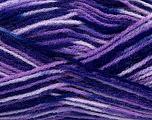 Fiber Content 100% Premium Acrylic, Purple, Lilac Shades, Brand Ice Yarns, fnt2-43859