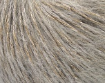 Fiber Content 40% Polyamide, 31% Acrylic, 29% Mohair, Light Grey, Brand Ice Yarns, fnt2-43924