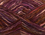 Fiber Content 52% Wool, 48% Acrylic, Purple, Maroon, Brand Ice Yarns, Burgundy, Brown, fnt2-44075