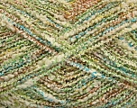 Fiber Content 80% Cotton, 5% Polyamide, 15% Polyester, Turquoise, Brand Ice Yarns, Green, Cream, fnt2-44227