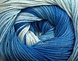 Fiber Content 100% Mercerised Cotton, Brand Ice Yarns, Blue Shades, fnt2-44691
