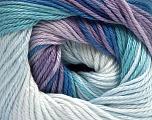 Fiber Content 100% Mercerised Cotton, Lilac Shades, Brand Ice Yarns, Blue Shades, fnt2-44693
