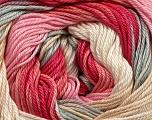 Fiber Content 100% Mercerised Cotton, Pink Shades, Brand Ice Yarns, Grey, Cream, fnt2-44694