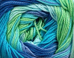 Fiber Content 100% Mercerised Cotton, Turquoise, Lilac, Brand Ice Yarns, Green, Blue Shades, fnt2-44695