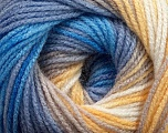 Fiber Content 100% Acrylic, Yellow, White, Lilac, Brand Ice Yarns, Blue Shades, fnt2-44712