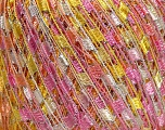 Trellis  Fiber Content 95% Polyester, 5% Lurex, Yellow, White, Silver, Pink, Light Salmon, Brand ICE, Yarn Thickness 5 Bulky  Chunky, Craft, Rug, fnt2-46976