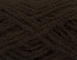 Fiber Content 40% Acrylic, 40% Wool, 20% Polyamide, Brand ICE, Dark Brown, fnt2-49127