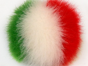 Diameter around 7cm (3&amp) White, Red, Yarn Thickness Other, Brand Ice Yarns, Green, acs-590