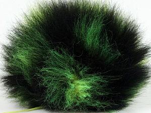 Diameter around 7cm (3&amp) Yarn Thickness Other, Brand ICE, Green, Black, acs-594