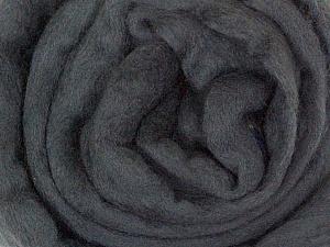 50gr-1.8m (1.76oz-1.97yards) 100% Wool felt Fiber Content 100% Wool, Yarn Thickness Other, Brand ICE, Dark Grey, acs-925